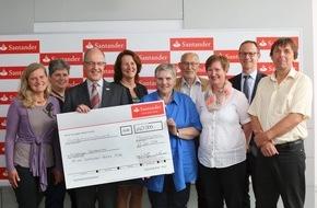 Santander Consumer Bank AG: Santander spendet 140 000 Euro für wohltätige Zwecke