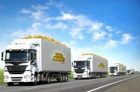 Eurojackpot: Eine LKW-Flotte für den Eurojackpot / Ziehung am morgigen Freitag mit dem 82 Mio. Jackpot