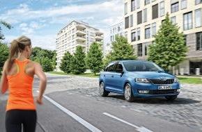 Skoda Auto Deutschland GmbH: SKODA läutet mit Sondermodell Rapid Spaceback Cool Edition den Sommer ein