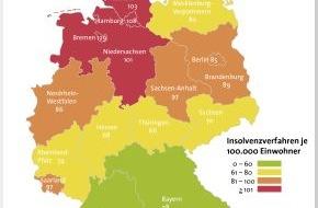 BÜRGEL Wirtschaftsinformationen GmbH & Co. KG: Weniger Privatinsolvenzen im 1. Halbjahr