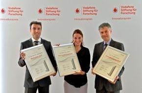 Vodafone GmbH: Vodafone Innovationspreis 2013: Wegweisende Wissenschaft für mobile Gesellschaft