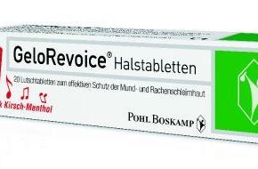 Pohl Boskamp GmbH & Co. KG: Halstabletten mit Hyaluronsäure helfen bei heuschnupfenbedingten Halsbeschwerden