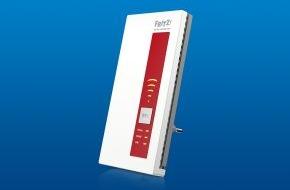 AVM GmbH: Der intelligente WLAN-Profi FRITZ!WLAN Repeater 1750E ist ab sofort im Handel erhältlich