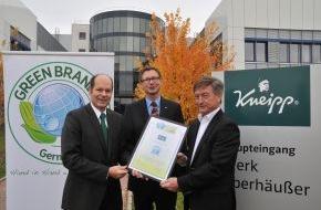 Green Brands: Kneipp als GREEN BRAND Germany ausgezeichnet