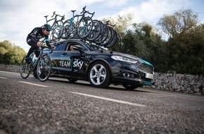 """Ford-Werke GmbH: Ford: Exklusiv-Lieferant von Pkw und Transportern für die britische Radrennsport-Mannschaft """"Team Sky"""""""