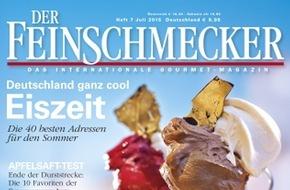 Jahreszeiten Verlag, DER FEINSCHMECKER: Deutschland ganz cool: DER FEINSCHMECKER empfiehlt die 40 besten Eisdielen
