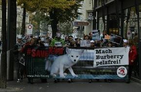 VIER PFOTEN - Stiftung für Tierschutz: VIER PFOTEN führte am gestrigen Samstag erfolgreich einen Protestmarsch zur Rettung von Fuchswelpe Kimi in Zürich durch