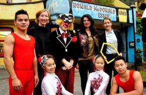 McDonald's Kinderhilfe Stiftung: Zirkus mit Herz - Oleg Popov richtet zusammen mit dem Chinesischen Staatscircus eine Benefizveranstaltung zugunsten der McDonald's Kinderhilfe Stiftung aus