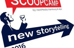 """dpa Deutsche Presse-Agentur GmbH: Von Washington Post bis Playbuzz und """"Fox & Sheep"""" - Anmeldestart für scoopcamp 2016 mit starken Keynotes"""
