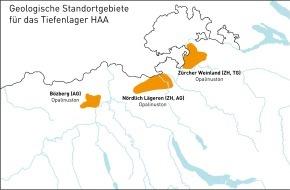 Nagra: La Nagra propone delle aree di ubicazione per depositi in strati geologici profondi