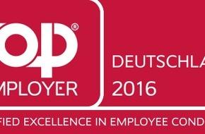 """DVAG Deutsche Vermögensberatung AG: Auszeichnung für exzellente Berufschancen und Karriereförderung Deutsche Vermögensberatung (DVAG) ist """"Top Employer Deutschland 2016"""""""