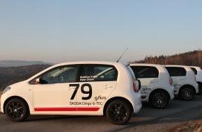 Skoda Auto Deutschland GmbH: Vier SKODA Citigo G-TEC starten bei Rallye Monte-Carlo für alternative Energien