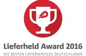 Lieferheld: Lieferheld Award 2016 / Das sind die besten Lieferservices in Deutschland