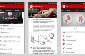 Schweizerisches Rotes Kreuz / Croix-Rouge Suisse: Sicher helfen mit dem Erste Hilfe App des SRK