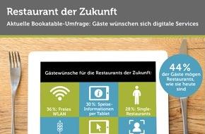 Bookatable GmbH & Co.KG: Restaurant der Zukunft: Gäste wünschen sich digitale Services / Eine Bookatable-Umfrage zeigt: Gäste freuen sich über zusätzliche Services wie WLAN oder digitale Speise-Informationen