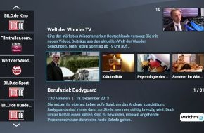 TV DIGITAL: Jetzt auch als App für Smart-TV: watchmi Themenkanäle von Axel Springer Digital TV Guide
