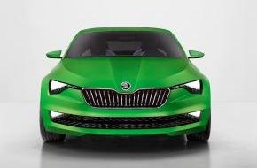 """Skoda Auto Deutschland GmbH: SKODA auf der AMI 2014: Deutschland-Debüt für wegweisende Designstudie """"VisionC"""""""