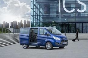 """Ford-Werke GmbH: Neue Ford Tourneo Custom """"Business Edition"""": mobiles Büro und geräumiges Freizeitmobil in einem"""