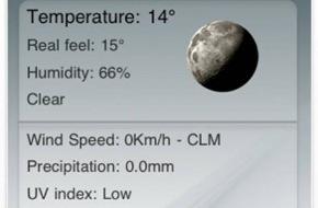 21degrees SA: Den Wetterbericht für die nächsten Stunden in der Hosentasche: Free Weather 3.0
