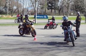 Allianz Suisse: Sicher auf dem Motorrad unterwegs: Die Allianz Suisse Fahrsicherheitstrainings 2014