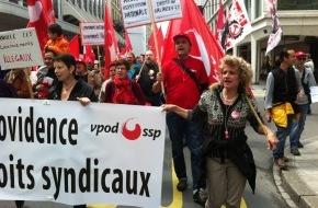 vpod Schweiz / ssp: Stellungnahme vpod: Streikende entlassen - das darf es nie wieder geben