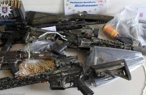 Waffen sichergestellt