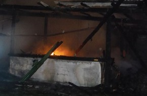 Polizei Düren: POL-DN: Laube in Flammen