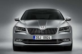 Skoda Auto Deutschland GmbH: Der neue SKODA Superb: Messepremiere in Genf - Einstiegspreis 24.590 Euro