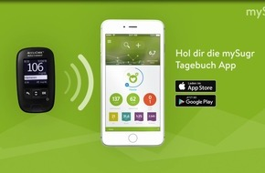 Roche Diabetes Care: Diabetes Management per Smartphone: Roche Diabetes Care und mySugr starten Kooperation