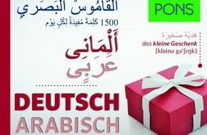 PONS GmbH: Neu hier? Deutsch lernen für arabischsprachige Flüchtlinge - und Arabisch lernen für deutsche Helfer / Mit den neuen Bildwörterbüchern von PONS