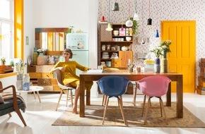 KARE Design GmbH: Trends imm Köln 2016, Neuheiten, Möbel, Leuchten, Wohnen, Einrichten / Esstisch ist Möbel des Jahres / Wohnoase im Wüstenlook / Skuriles als Sahnehäubchen der Einrichtung