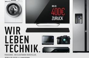 Panasonic Deutschland: Panasonic Cashback-Aktion vom 16.11.2015 bis 09.01.2016 / Panasonic kurbelt das Weihnachtsgeschäft mit erheblichen Preisvorteilen und einer reichweitenstarken Werbekampagne an