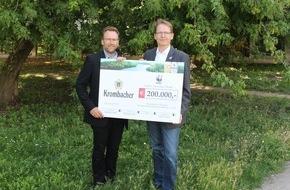 Krombacher Brauerei GmbH & Co.: Krombacher spendet 200.000 EUR an den WWF - Wildnisentwicklung in der Zerweliner Heide