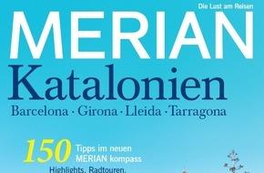 """Jahreszeiten Verlag, MERIAN: """"Entdeckungen in den Bergen, den Städten und am Strand"""" / NEU: MERIAN Katalonien erscheint am 23. Juli 2015"""
