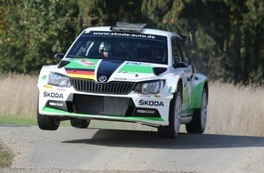 Skoda Auto Deutschland GmbH: Perfektes Finale: Kreim/Christian beenden Saison mit fünften Sieg im SKODA Fabia R5