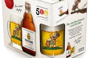 Brauerei C. & A. Veltins GmbH: Special-Edition zu 500 Jahre Reinheitsgebot: Kultige Veltins-Steinie im Auftritt der 1960er-Jahre