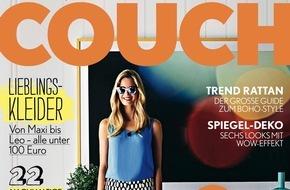 Gruner+Jahr, Couch: COUCH ruft großen Design-Monat aus: Redaktionelle Specials auf allen Kanälen, exklusive Designerstücke zu gewinnen / Neue Cover-Optik setzt ebenfalls klares Design-Statement