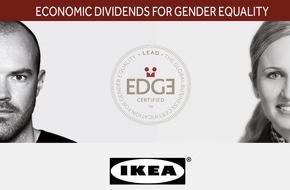 IKEA AG: IKEA Schweiz erreicht als erstes Unternehmen weltweit die höchste Stufe des EDGE-Zertifizierungssystems für die Gleichstellung der Geschlechter am Arbeitsplatz