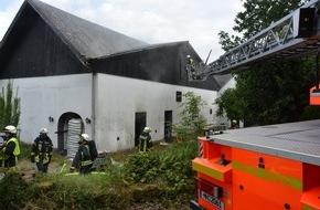 Feuerwehr Mülheim an der Ruhr: FW-MH: Scheunenbrand ging glimpflich aus.