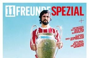 """Gruner+Jahr, 11FREUNDE: 11FREUNDE SPEZIAL """"Königsklasse"""" mit drei verschiedenen Covern der Champions League-Triumphe von Bayern München, vom BVB und HSV"""