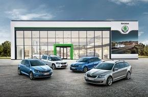 Skoda Auto Deutschland GmbH: Leckerbissen beim großen SKODA Buffet: Sondermodellreihe JOY mit 3+3 Clever-Paket