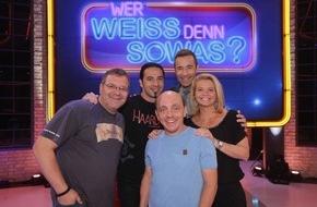 """ARD Das Erste: Das Erste: """"Wer weiß denn sowas?"""" - Das schlaue Wissensspiel mit Bernhard Hoëcker und Elton"""