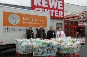 REWE Markt GmbH: 1.430 Tonnen Lebensmittel für die Tafeln