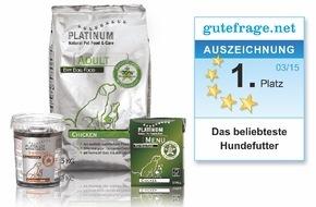 PLATINUM GmbH & Co. KG: Platz 1 bei Online-Umfrage: PLATINUM ist zum beliebtesten Hundefutter gewählt worden