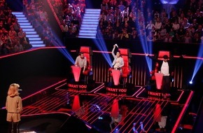 "SAT.1: Voll am Start! Mark Forster bringt Lena und Johannes in der ersten Blind Audition bei ""The Voice Kids"" auf 180, am 27. Februar in SAT.1"