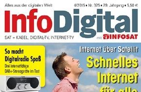 INFOSAT Verlag: InfoDigital - Ausgabe April 2015 im Handel - Schnelles Internet für alle