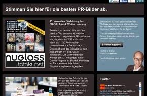 news aktuell GmbH: PR-Bild Award 2014: Abstimmung für den Branchenpreis der dpa-Tochter news aktuell geht in die heiße Phase