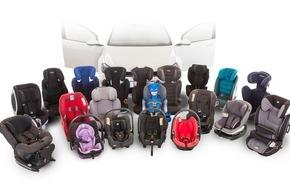 Touring Club Schweiz/Suisse/Svizzero - TCS: TCS-Kindersitztest: i-Size Produkte sind sehr empfehlenswert