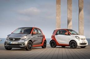 Mercedes-Benz Schweiz AG: smart jetzt mit Doppelkupplungsgetriebe erhältlich