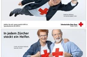 Schweizerisches Rotes Kreuz Kanton Zürich: Werbekampagne des SRK Kanton Zürich: «In jedem Zürcher steckt ein Helfer»